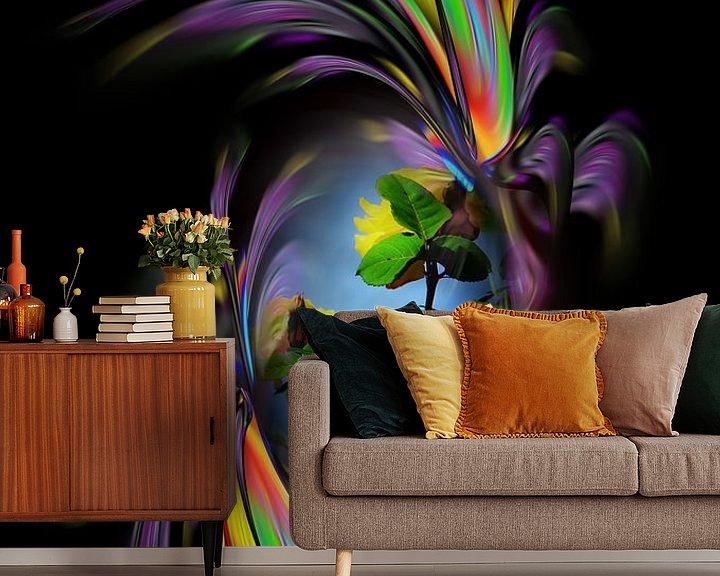 Sfeerimpressie behang: Fantasie in bloei - Rozen van Walter Zettl