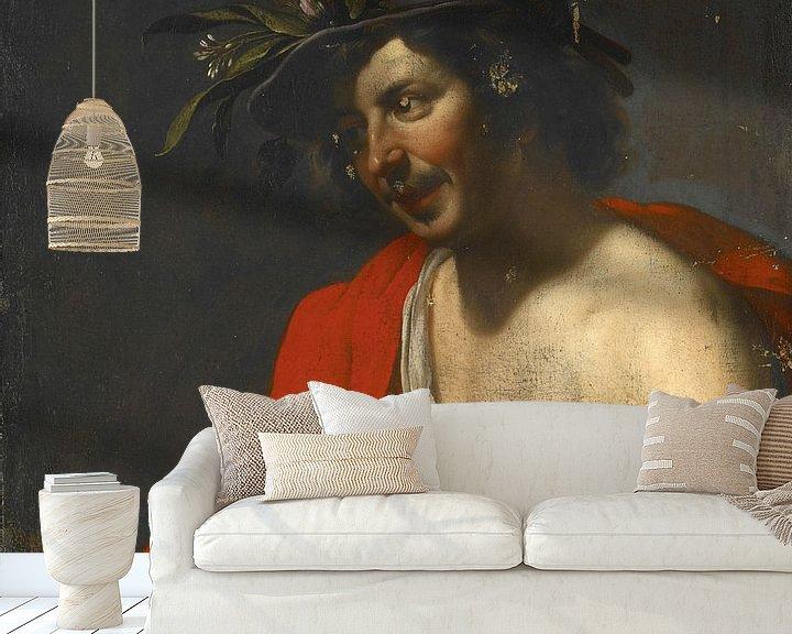 Beispiel fototapete: Jan van Bijlert, Herder schneidet eine Flöte - 1630er Jahre von Atelier Liesjes
