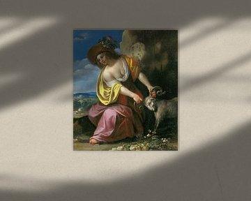 Jan van Bijlert, Jonge vrouw die een ram vasthoudt