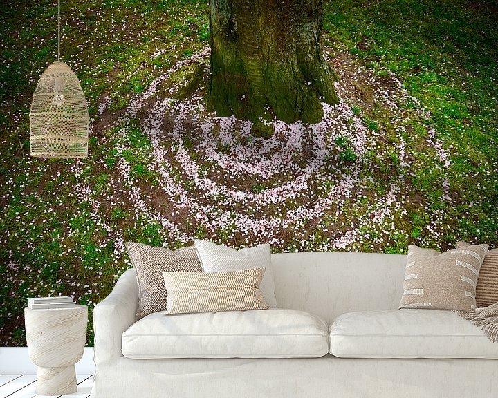 Sfeerimpressie behang: Bloem confetti van Mies Heerma