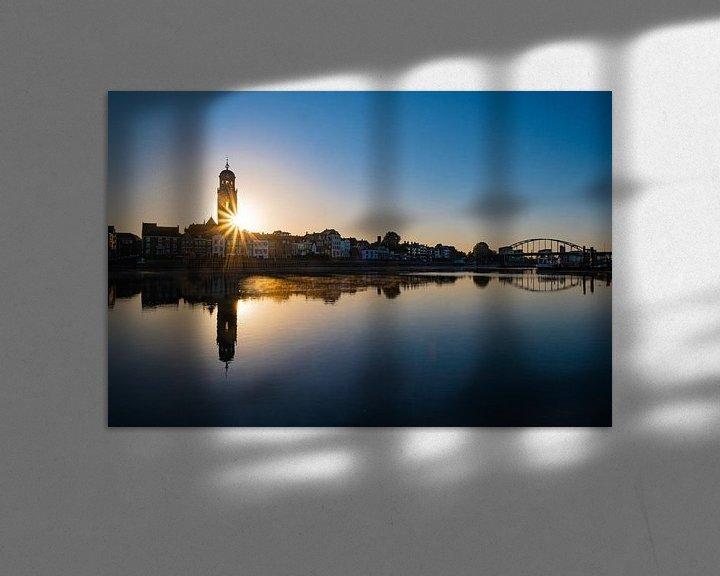 Impression: La ligne d'horizon de Deventer ! sur Gerard van der Wal