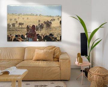 Junger Hirte in den Simien-Bergen, Äthiopien. von Harold de Groot