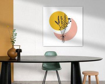 Blumenstrauß abstrakt von Sophia Amend