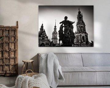 Schwarzweiss-Fotografie: Dresden – Schlossplatz von Alexander Voss