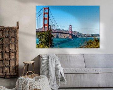 Golden Gate Bridge San Francisco von Annette van Dijk-Leek