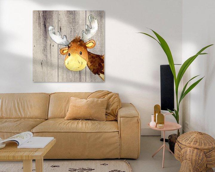Beispiel: Hirsch - Wasserfarben Illustration von Uta Naumann