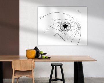 Hypnose (oog) van Marcel Kerdijk