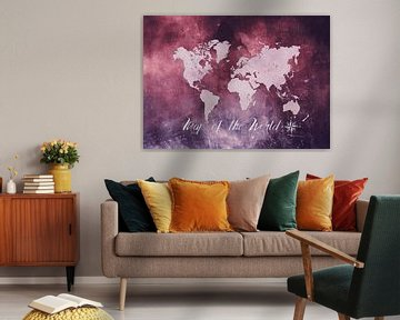 Wereldkaart 1 van JBJart Justyna Jaszke