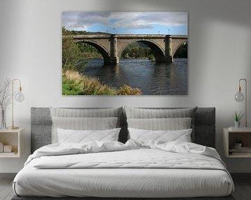 Burg over de rivier Tay bij Dunkeld, Schotland van Floortje Mink