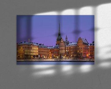 Winteravond Gamla Stan, Stockholm van Adelheid Smitt
