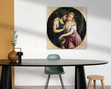 Paris Bordone, Mythologisches Paar (Daphnis und Chloe) - 1500er Jahre von Atelier Liesjes