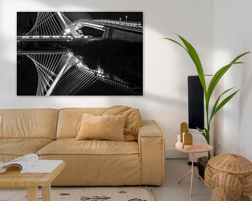 Spiegelende architectuur (Calatrava) van Frank Laurens