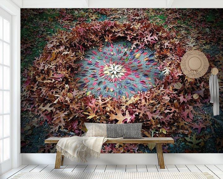 Sfeerimpressie behang: Herfst zon van Mies Heerma