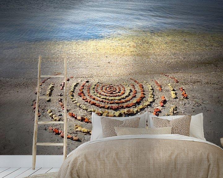 Sfeerimpressie behang: Steen cirkels van Mies Heerma
