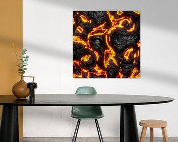 Künstliche, digitale Lava und Magma