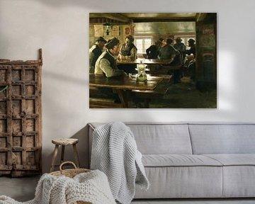 interieur van een taverne - peter severin kroyer van Atelier Liesjes