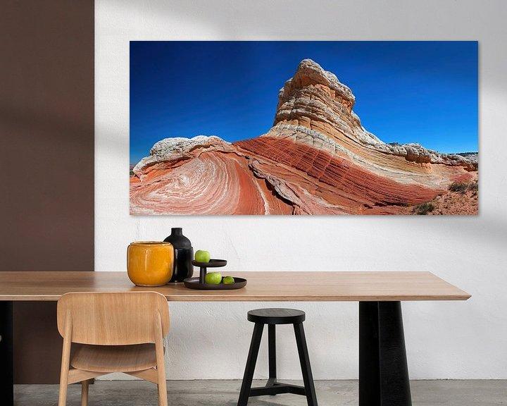 Sfeerimpressie: White Pocket Butte in Arizona (USA) van Jan Roeleveld
