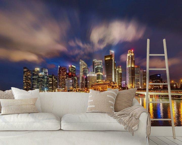 Sfeerimpressie behang: Bright Lights in Singapore van Adelheid Smitt