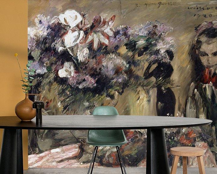 Beispiel fototapete: Blumen und Tochter Wilhelmine, Lovis Corinth