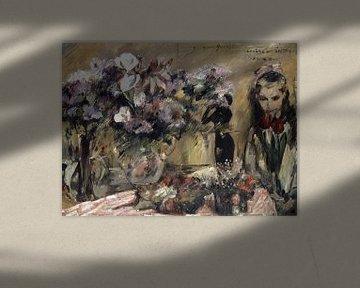 Blumen und Tochter Wilhelmine, Lovis Corinth