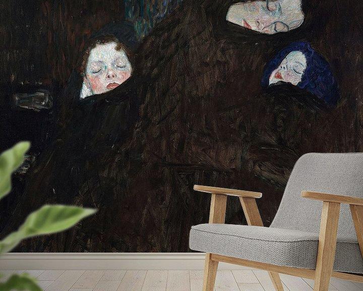 Beispiel fototapete: Mutter mit zwei Kindern (Familie), Gustav Klimt