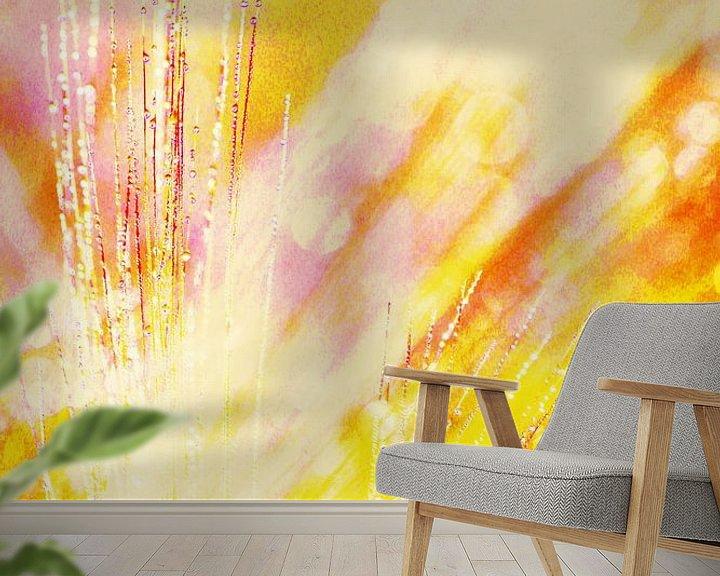 Sfeerimpressie behang: Korenveld in de morgen van Ina Bloemendal