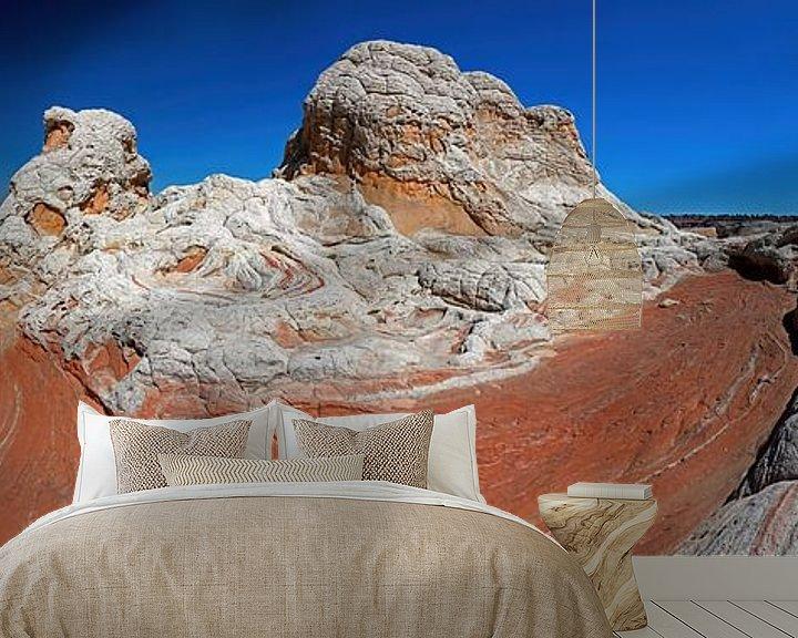 Sfeerimpressie behang: White Pocket Buttes in Arizona (USA) van Jan Roeleveld