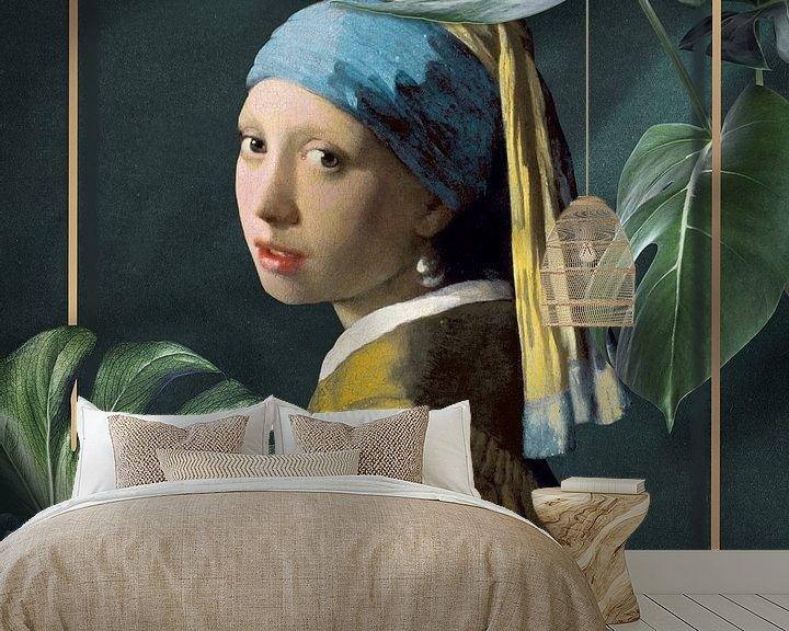 Beispiel fototapete: Girl with the Pearl Earring - The Modern Chic Edition von Marja van den Hurk