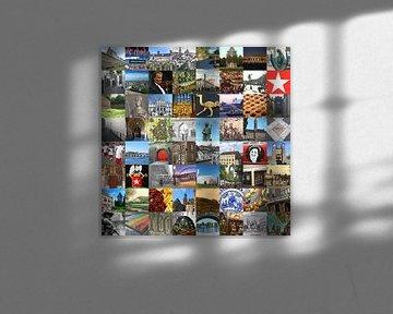 Alles aus Maastricht - Collage aus typischen Bildern der Stadt und der Geschichte von Roger VDB