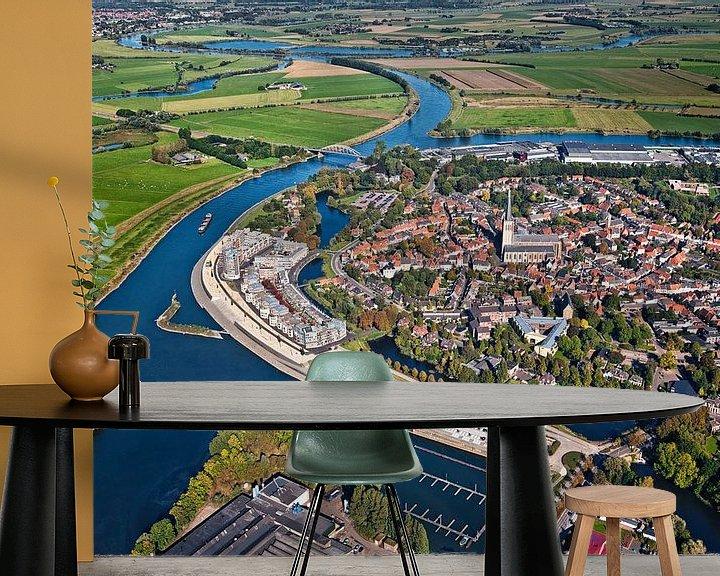 Impression: Photo aérienne de Doesburg sur la rivière IJssel sur Frans Lemmens