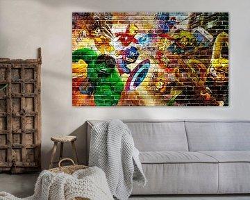 LEGO Marvel muur graffiti collectie 1 van Bert Hooijer