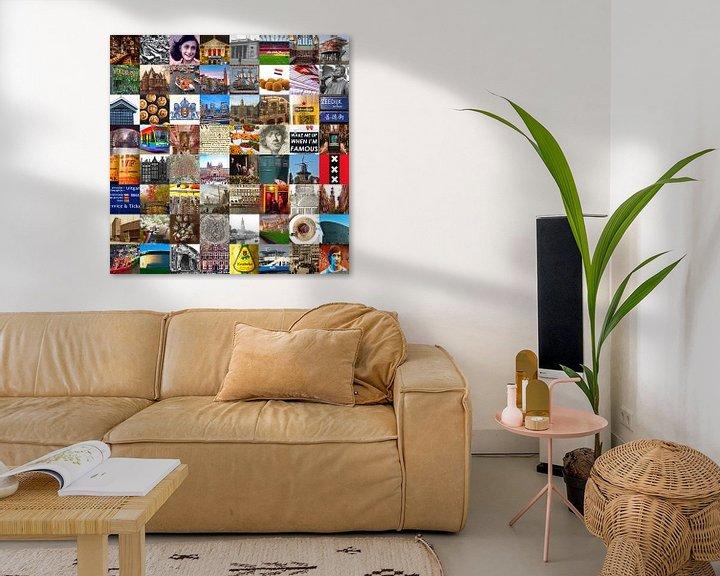 Sfeerimpressie: Alles van Amsterdam - collage van typische beelden van de stad en historie van Roger VDB