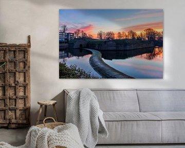 Zonsopkomst boven het Ravelijn, Bergen op Zoom van Rick van Geel