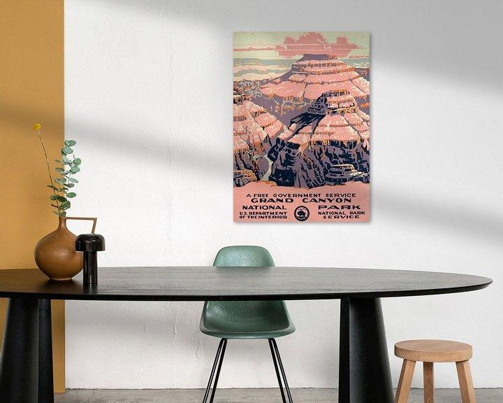 Sfeerimpressie: Grand Canyon National Park, een gratis overheidsdienst van Vintage Afbeeldingen