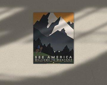 Siehe Amerika: Willkommen in Montana von Vintage Afbeeldingen