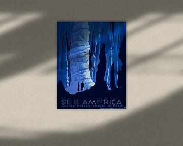 Siehe Amerika: Höhlen von Vintage Afbeeldingen