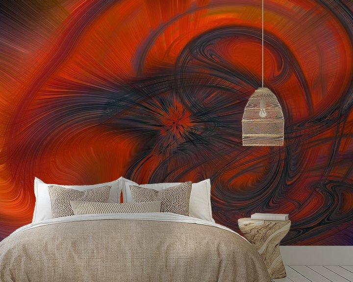 Sfeerimpressie behang: Digital abstract 19 van Leo Luijten
