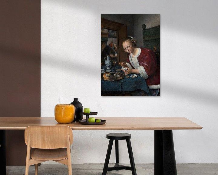 Beispiel: Mädchen isst Austern, Jan Steen