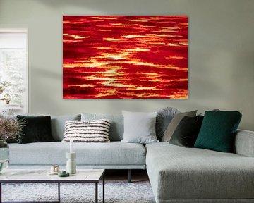Abstract landschap in rood