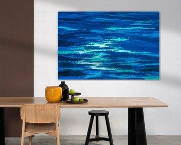 Abstract landschap in blauw