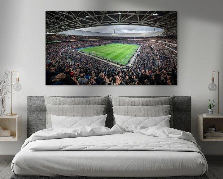 Sfeerimpressie: Kolkende Kuip tijdens Feyenoord-Ajax van Jeroen van Dam