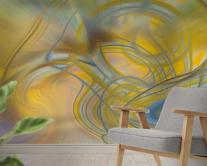 Sfeerimpressie behang: Digital abstract 20 van Leo Luijten