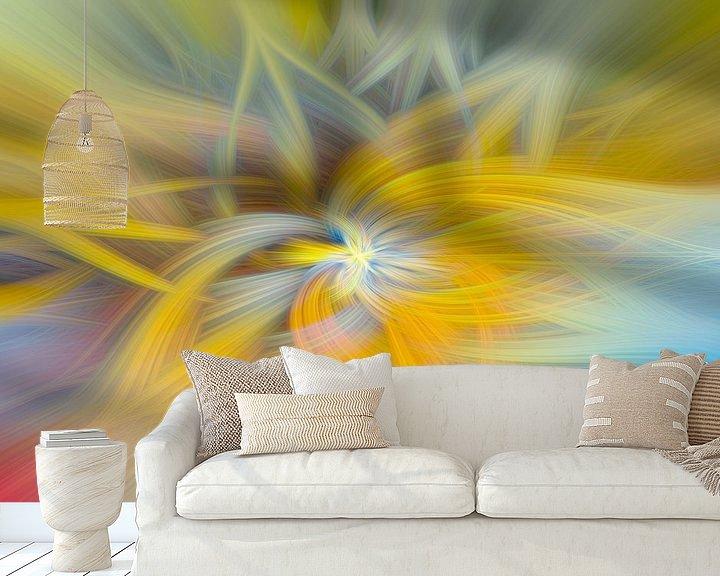 Sfeerimpressie behang: Digital abstract 23 van Leo Luijten