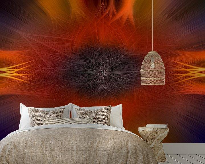Sfeerimpressie behang: Digital abstract 25 van Leo Luijten