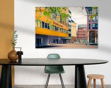 Moderne rchitectuur in het Paleiskwartier, 's-Hertogenbosch van Marcel Bakker