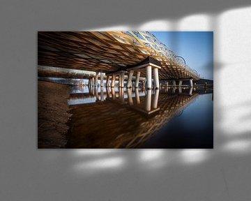 De Royal Welch Bridge spoorbruggen, s'-Hertogenbosch, Nederland van Marcel Bakker