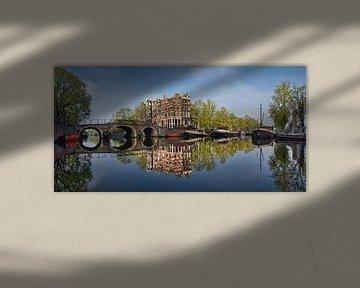 Grachtenhäuser an der Brouwersgracht in Amsterdam