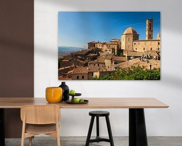 Blick auf Volterra, Toskana, Italien