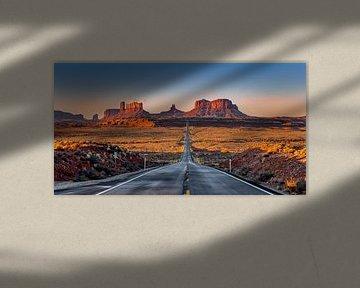 Monument Valley Sunrise van Adelheid Smitt
