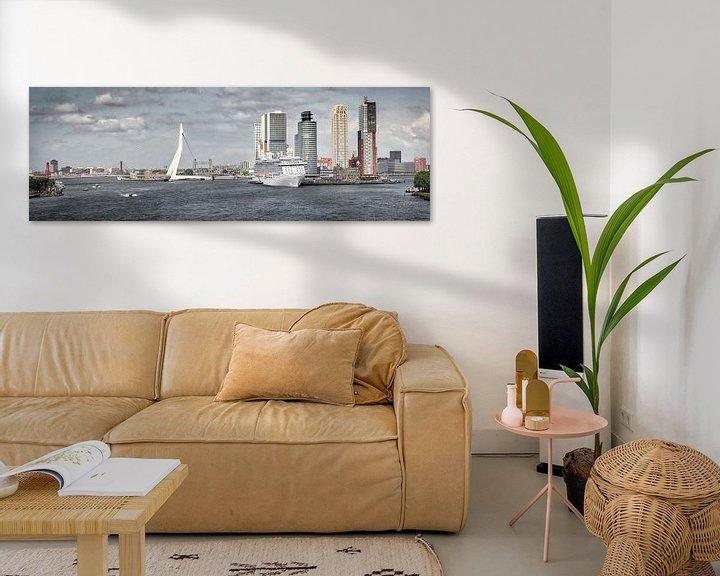 Impression: Le pont Erasmus et le Kop van Zuid à Rotterdam sur Frans Lemmens